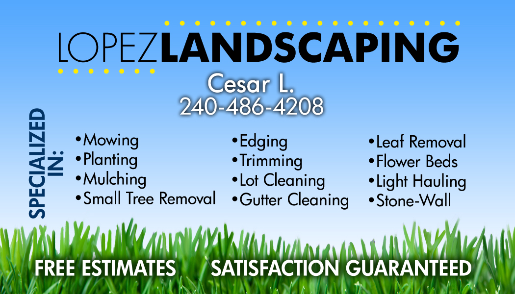Landscaping Business Card Ideas Gallery - Business Card Template